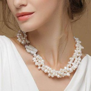Vintage Sea Pearl Necklace Handmade